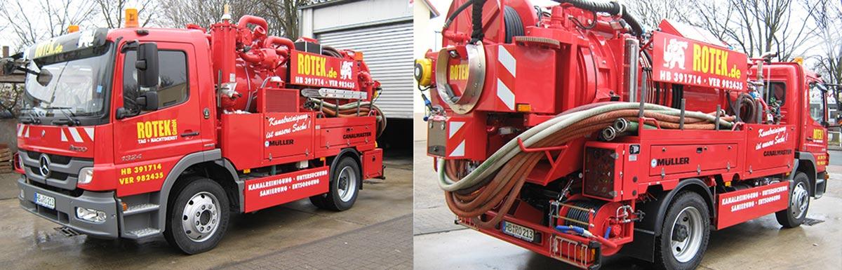 Saug-und Spülwagen 3 für die Reinigung von Fettabscheidern