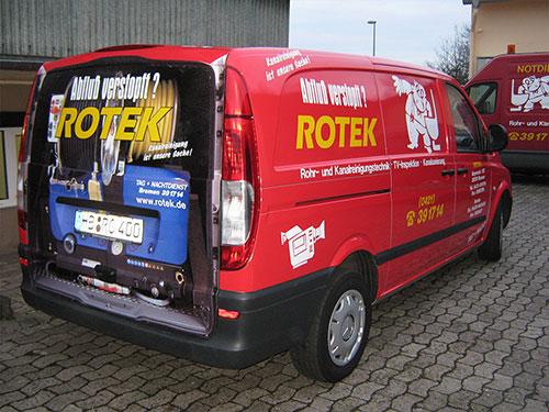 Servicefahrzeug zur Verstopfungsbeseitigung
