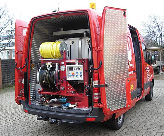 Servicefahrzeug für HD-Kanalreinigung